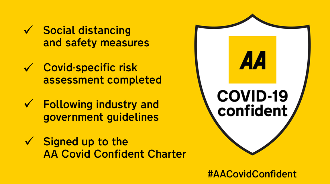 AA Covid Confident accreditation Holiday Inn Reading M4 Jct10